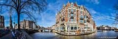 Panoramic Muntplein - Amsterdam, Netherlands.