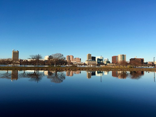 reflection water boston buildings massachusetts charlesriver newengland bluesky backbay pw charlesriverreservation