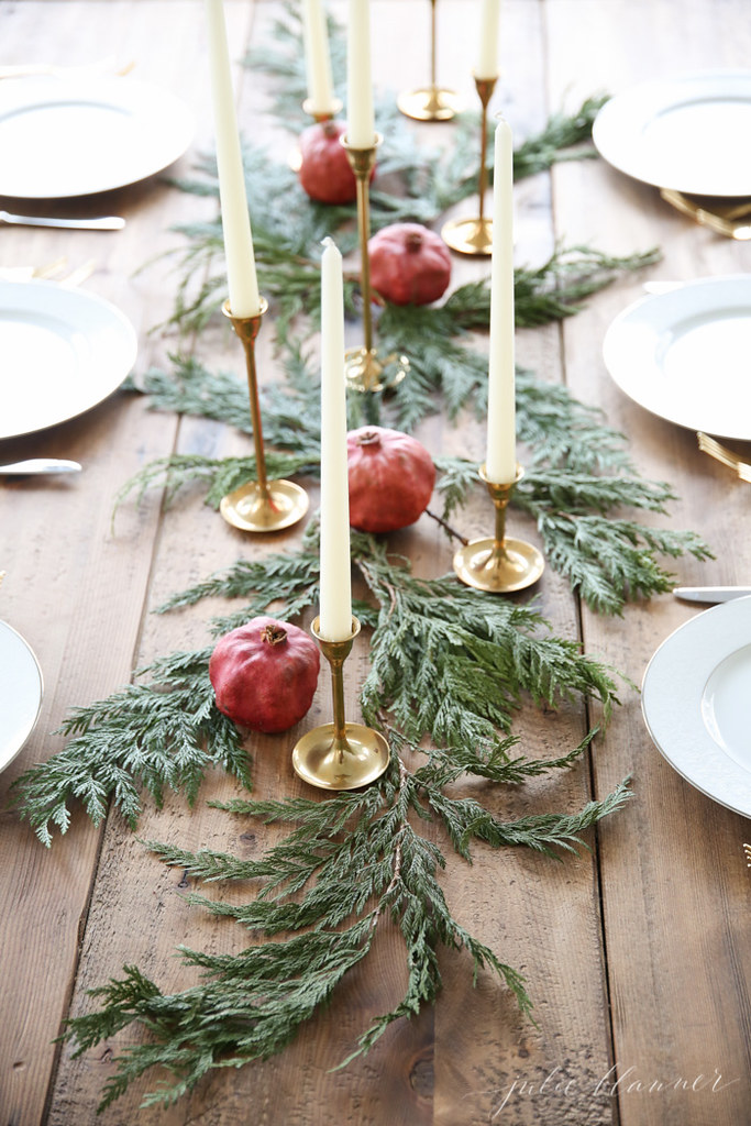 Christmas Greenery Centerpieces.Rustic Holiday Greenery Candle Centerpiece Www Livingafter