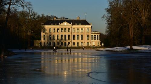architecture architectuur kasteel castle ice sunlight sunset iceskating nature broekhuizen leersum