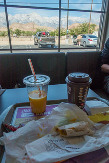 Egg McMuffin with Mt Whitney View   by danlmarmot