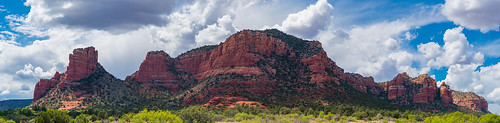 sedona arizona usa rock sky clouds nature red landscape green scenery beautiful hiking nikon d800 blue