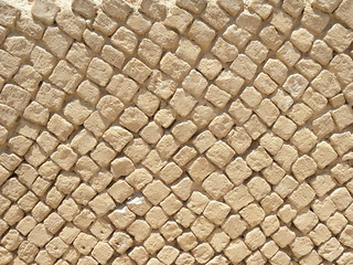 Opus reticulatum stonework from Herod's palace at Jericho