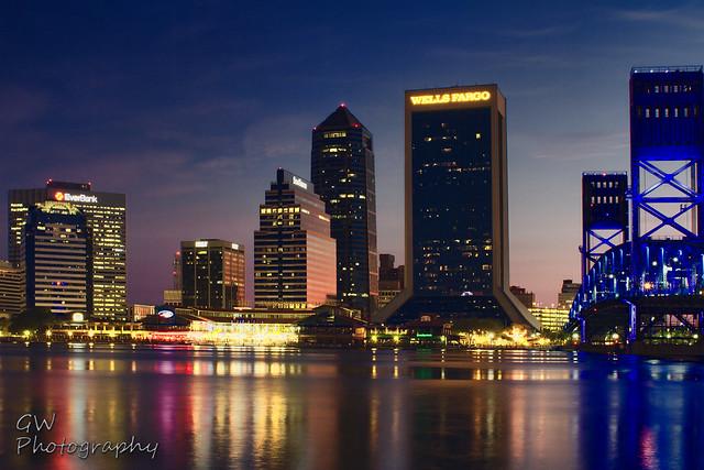 Downtown Jacksonville At Sunrise