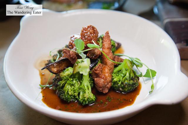 Broccoli, black turnip, lamb sweetbreads