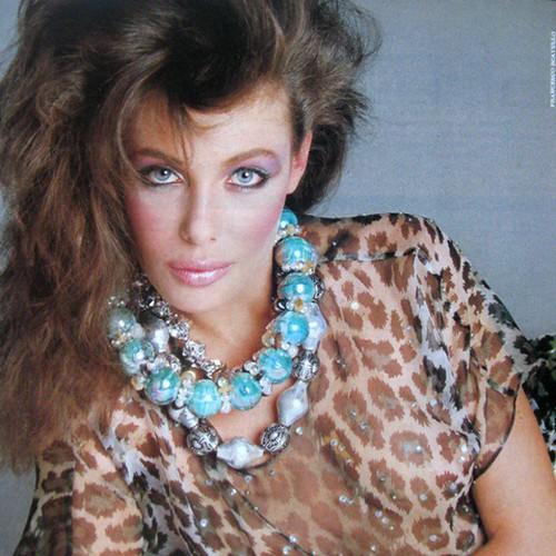 Saturday night inspiration! Kelly LeBrock in Vogue. Lovin' those chucky style necklaces! #Vogue #fashion #love #Etsy #1980s #etsyshop #etsyvintage #swag #vintage #ooak #glam #picoftheday #vintageshops #mixnmatch #streetstyle #inspiration #kellylebrock #