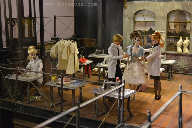 Dioramas de Lars Auvinem en la Exposición de Barbie en el Musée des Arts Décoratifs de París