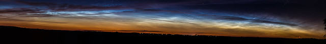 Noctilucent Cloud Panorama 2:37am BST 06/07/16