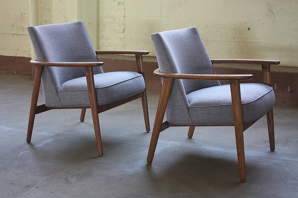Fine Provocative Midcentury Modern Lounge Arm Chairs U S A 1 Spiritservingveterans Wood Chair Design Ideas Spiritservingveteransorg