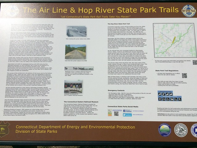 Hop River - Air Line trail Willimantic CT 2016