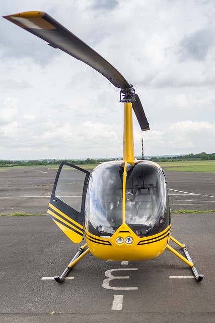 Robinson R44 II on ground