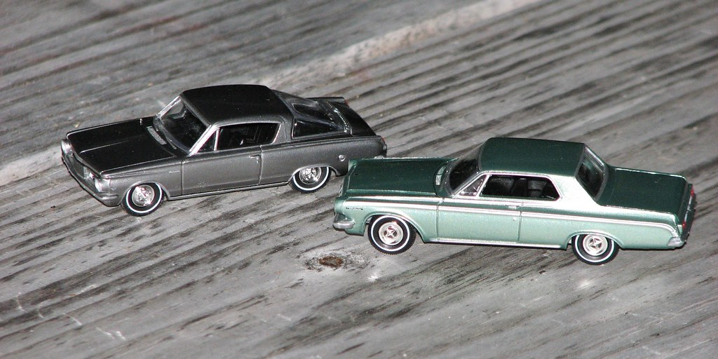 A 1/64 SCALE 1964 PLYMOUTH BARRACUDA AND 1963 DODGE POLARA… | Flickr