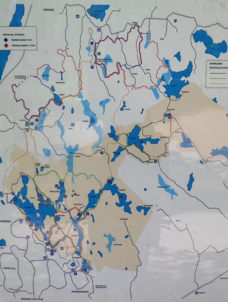 Karta Over Vattlefjall Pa Informationstavla Vid Mollsjovag Flickr