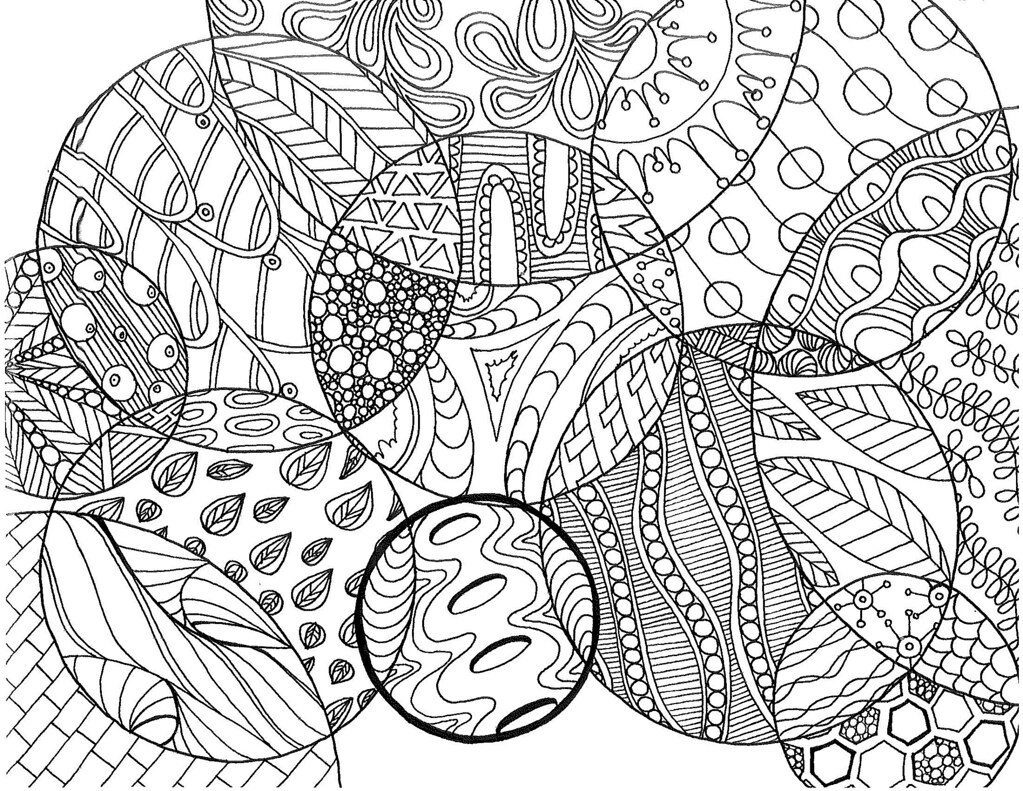 circle zentangle coloring page | pages at etsy.com/shop/snee ...