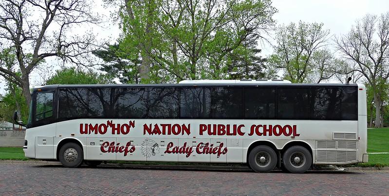 Omaha Nation Public School bus, Bressler Park, Wayne