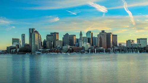 Boston, MA Skyline Sunset Image Staking | by Trenten Kelley