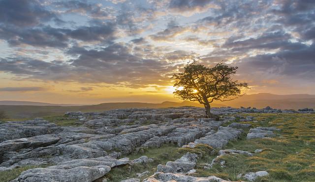 Last light at Winskill Stones