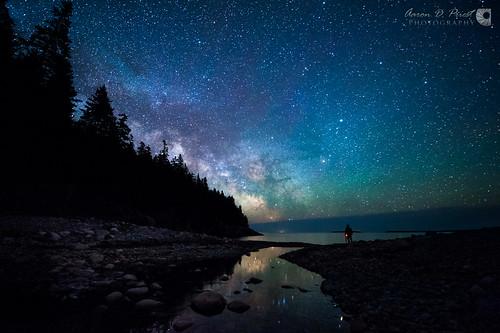 ocean nightphotography night stars coast unitedstates maine workshop nightsky meteor mountdesert mountdesertisland milkyway acadianationalpark huntersbeach huntersbrook