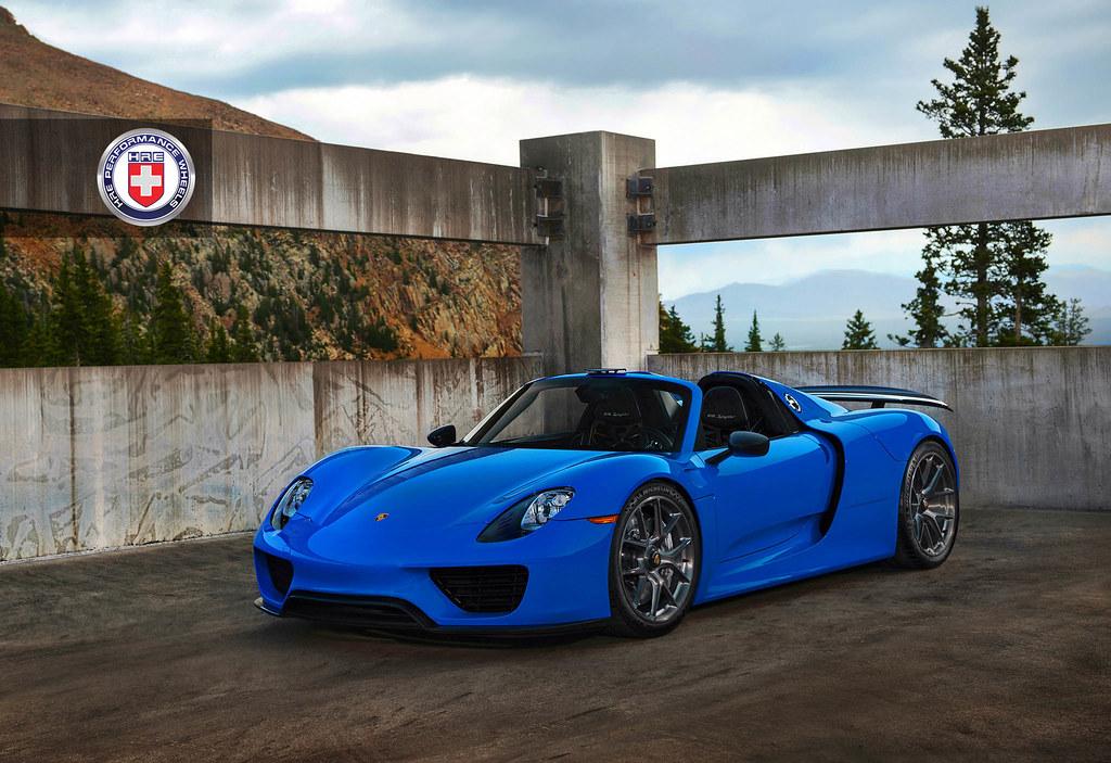Voodoo Blue Porsche 918 Spyder With Hre P101 In Brushed Da Flickr