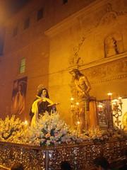 Cristo del Silencio en su Flagelación y Santa Teresa de Jesús