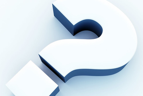 3D Blue Question Mark | by ccPixs.com