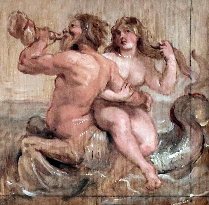IMG_2118H Pierre Paul Rubens. 1577-1640. Anvers. Néréide et Triton.  Rotterdam.