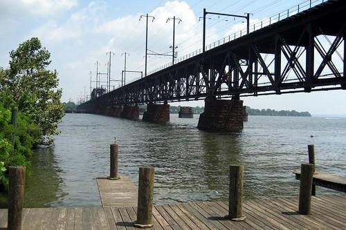 Maryland - Havre de Grace: Amtrak Susquehanna River Bridge   by wallyg