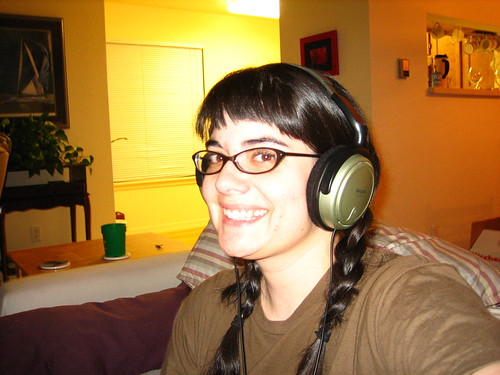 me and headphones
