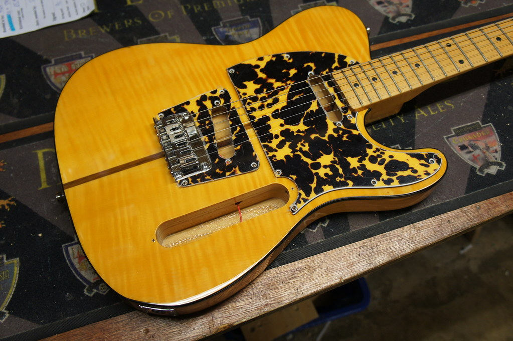 3 ply Wildcat yellow! Custom pickguard for a Harley Benton… | Flickr