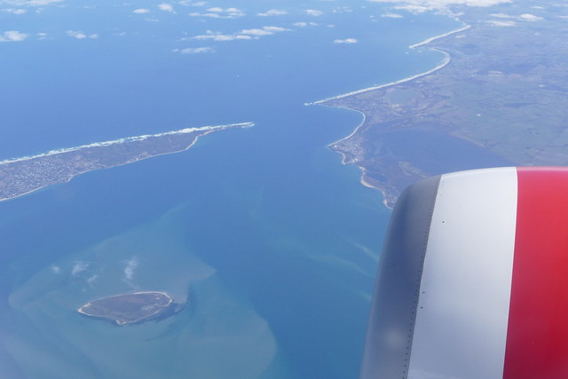 Flying over Port Phillip Bay en route to Tasmania.