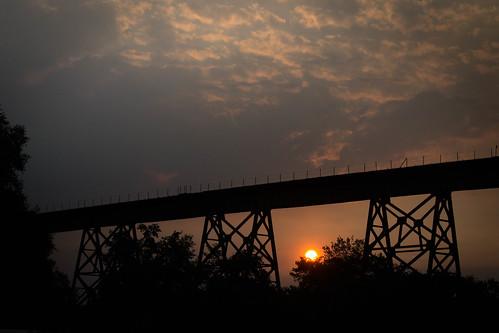 california silhouette sunrise us unitedstates redding traintrestle