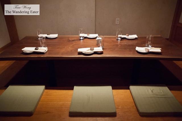 Tatami Room, close up