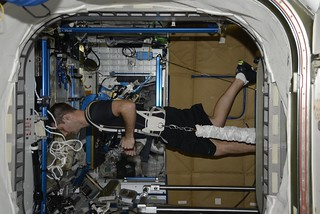 Exercise in the ISS | by Thomas Pesquet