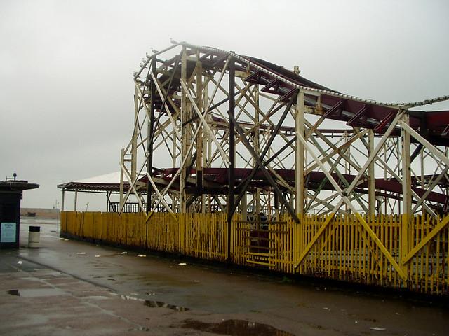 The derelict Rotunda Amusement park at Folkestone
