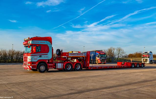 Corner's 6x2 HH Scania @ Immingham Truckstop..