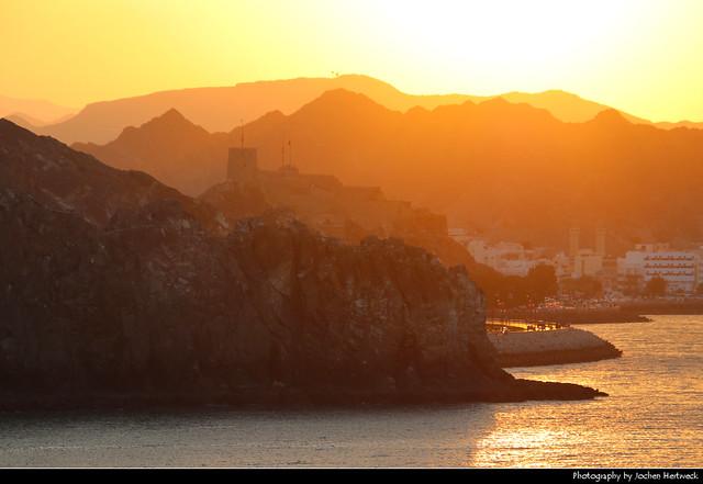 Mutrah seen from the Corniche, Muscat, Oman