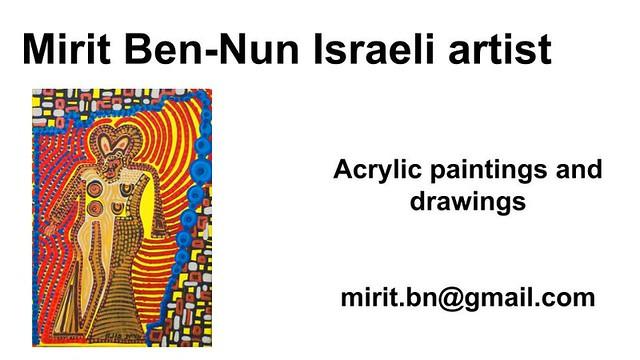 Mirit Ben-Nun artist original creating women art exhibit
