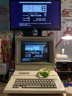 BBSing on the Apple IIe on an Friday evening, as one does. | by blakespot