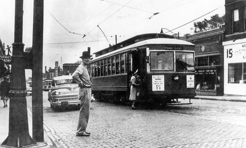 Street Scene mid-1940s, Omaha, Nebraska, USA