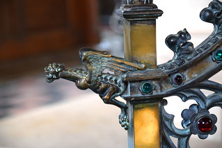 lectern: art nouveau dragon