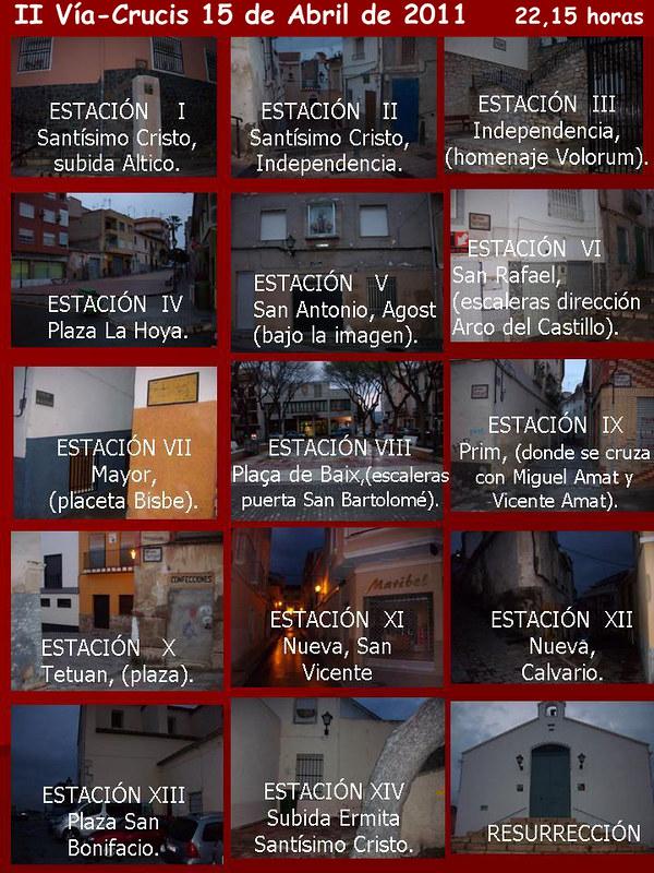 ElCristo - Historia - Documentos - (2011-04-15) - Cartel II Vía-Crucis  nocturno