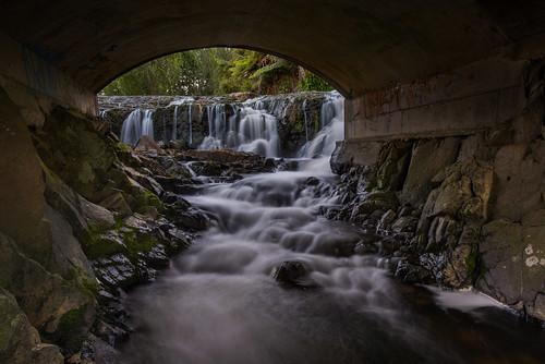 screensavers bridge river stream waterfall nature landscape nikon
