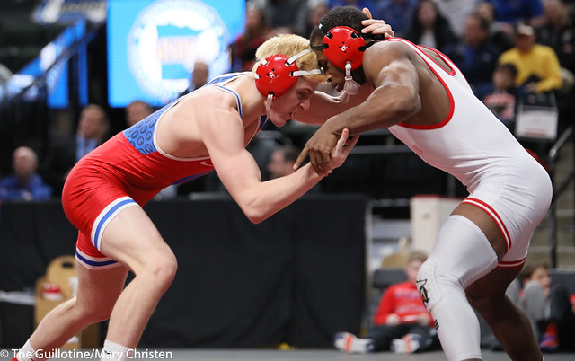 170AA 1st Place Match - Isaiah Thompson (Detroit Lakes) 45-3 won by decision over Nolan Wanzek (Simley) 33-15 (Dec 5-3) - 190302BMC4891