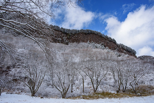 japan 奈良県 曽爾村 屏風岩 雪 snow
