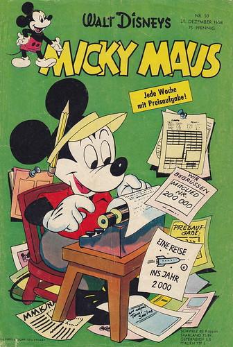 micky maus 501958  micky maus  comicheft copyright