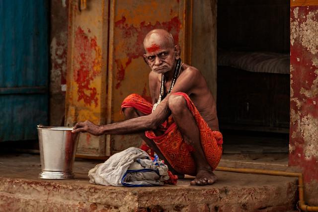 The house of brahman. Varanasi. Uttar Pradesh. India.