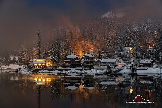 Winter's Night on Bass Lake