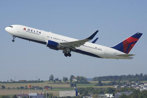 Delta Air Lines Boeing 767-300; N152DL@ZRH;09.09.2018