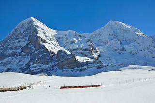Eiger and Mönch, from Kleine Scheidegg, Bernese Oberland - 28 Jan 2014