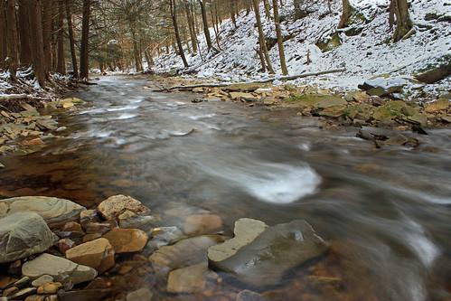 pennsylvania sullivancounty stategameland13 stategamelands13 sgl13 westbranchfishingcreek endlessmountains hiking creek stream cascades trees rocks snow winter creativecommons